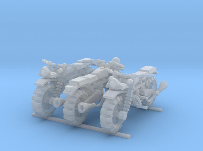 28mm Crude Motorbikes model 1 - X3 3d printed