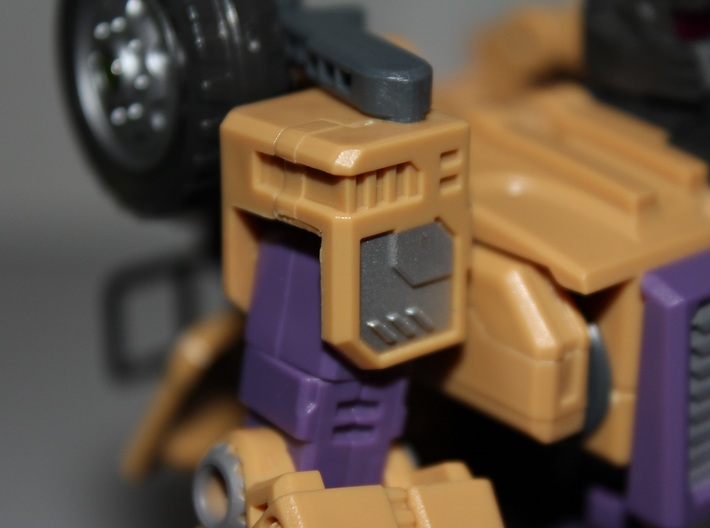 Warbotron WB01-C Canon Shoulder Clip 3d printed where it will be connected