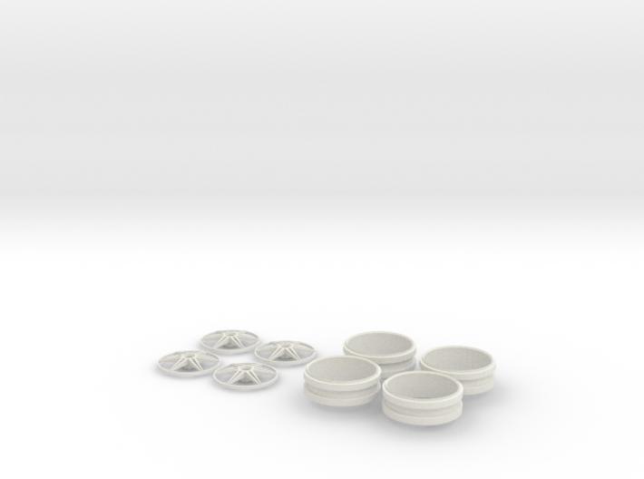 1/12 Centerlock 6 Star Wheels 3d printed