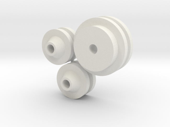 1/8 scale FlatHead Pulley Assembly 3d printed