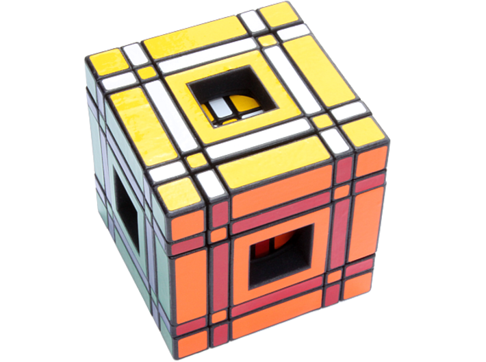 Window Real5x5x5 3d printed Checkerboard Pattern