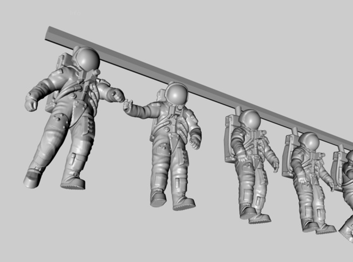 Apollo 11 Astronauts 1:48 3d printed