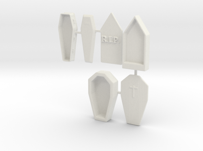 S Scale 3 Coffins 3d printed This is a render not a picture
