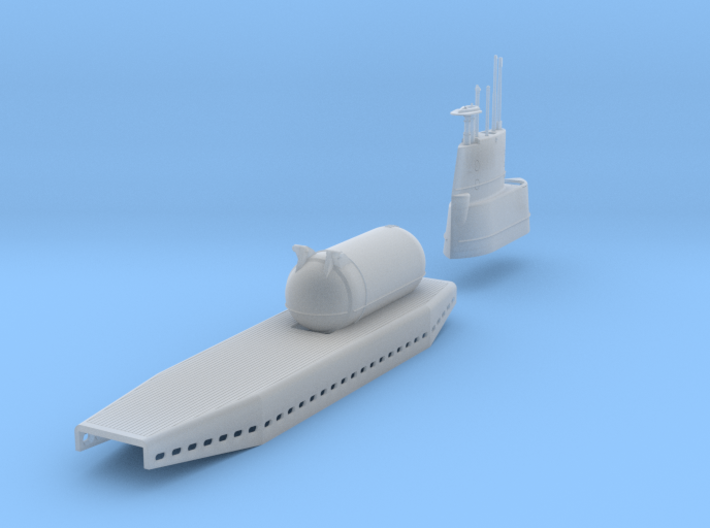 USS Tunny AGSS/LPSS-282, 1/350 scale 3d printed