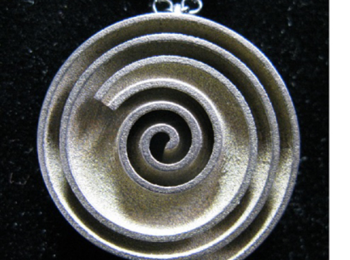 InFin Nautilus: Pendant - Large 3d printed Actual photo of pendant. Chain not included.