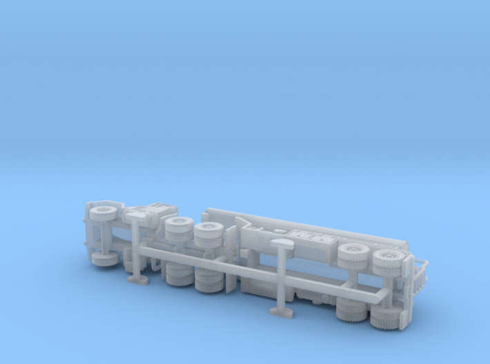 M915 Tractor w. M969 Tanktrailer 1/144 3d printed
