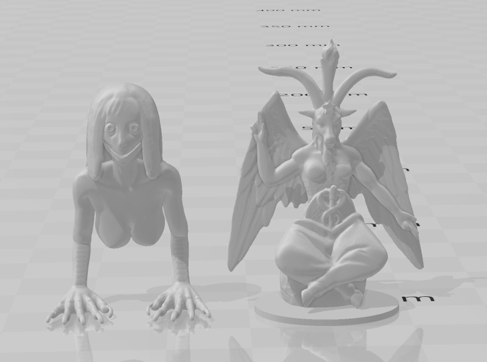 Momo 28mm miniature for games DnD rpg horror 3d printed