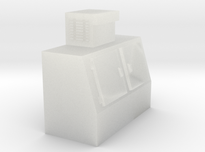 N-Scale Double Door Cooler 3d printed