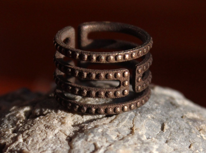 Uruk Ring Studded - Size 6 3d printed