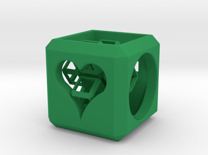 SCULPTURE Cross inside a Cube (25 mm) 3d printed