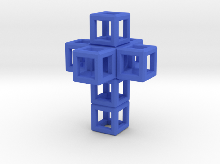 SCULPTURE: Cross 33 mm fits in Small HyperCube 3d printed