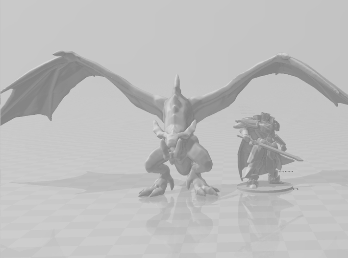 Wyvern 60mm DnD miniature fantasy games and rpg 3d printed