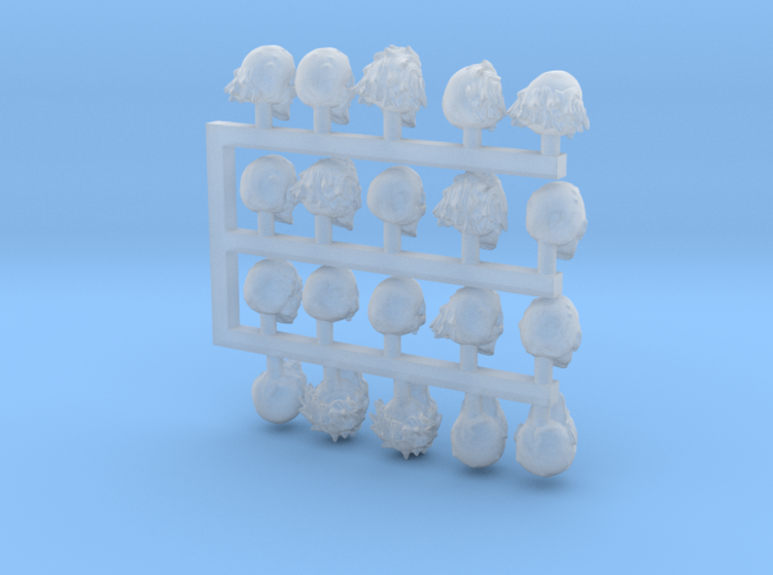 28mm Zombie / Ghoul / Undead / Monster Heads 3d printed