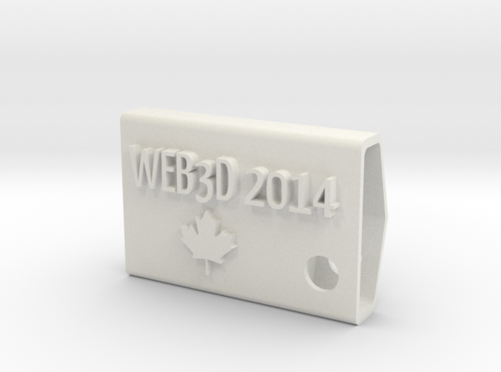 WEB3D 2014 Fob with Maple Leaf 3d printed