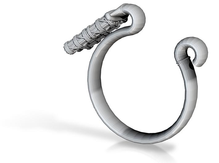 Pharaoh Staff & Tassel Ring - Sz. 6 3d printed