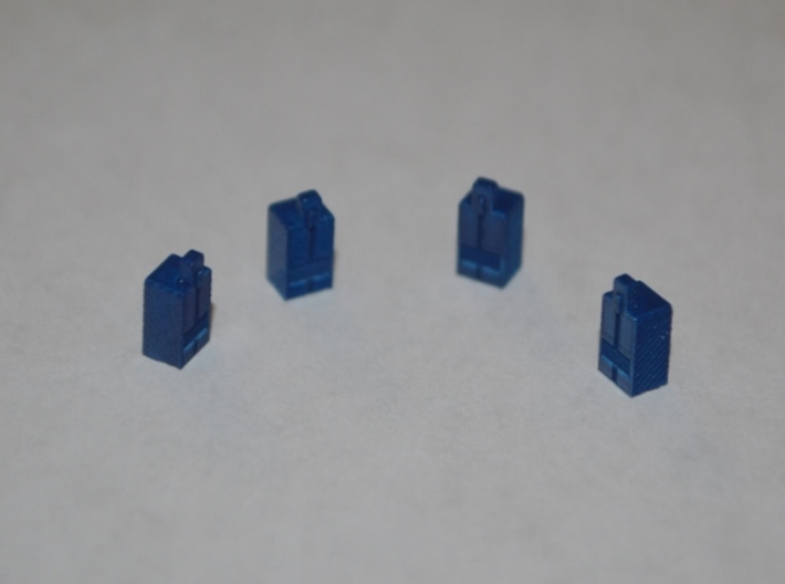 N-Scale Newspaper Vendor (4 Pack) 3d printed Painted Production Sample