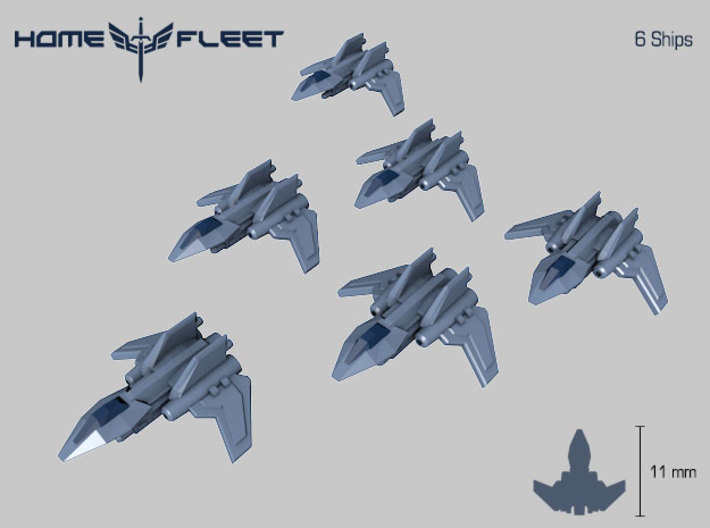 HOMEFLEET Interceptor - 6 Fighters 3d printed Homefleet Interceptor Group