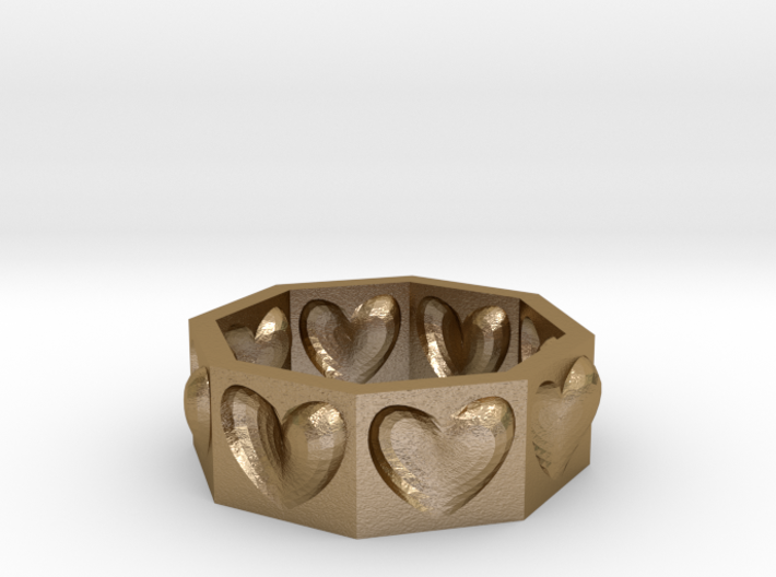 Half Hearted Ring ... a ring with a twist  3d printed