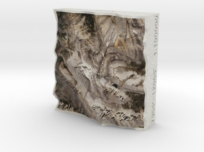 Borah Peak, Idaho, USA, 1:100000 3d printed
