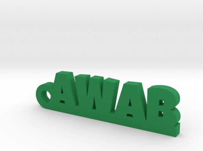 AWAB_keychain_Lucky 3d printed