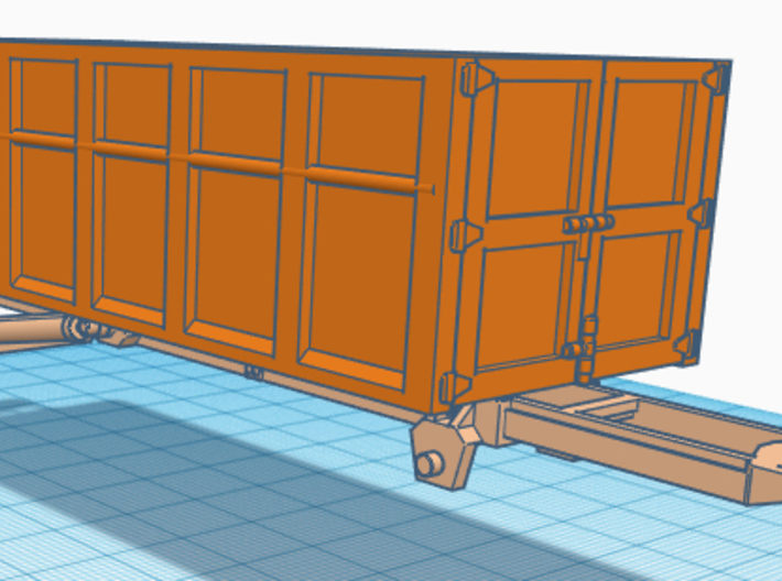1/50th 10 foot Roll off type Dumpster 3d printed Shown on truck body, not included