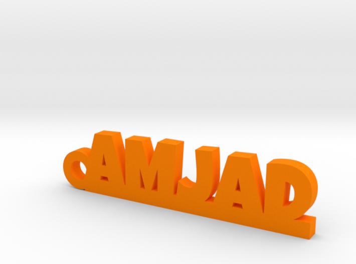 AMJAD_keychain_Lucky 3d printed