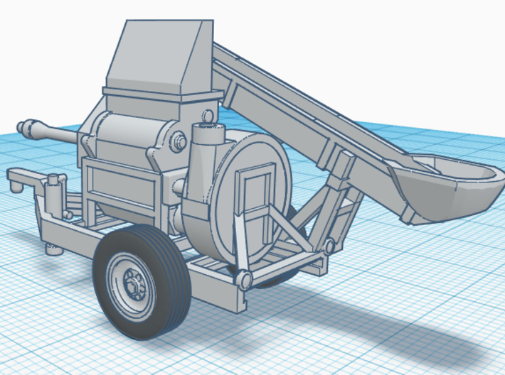 1/64th Henke Kwik Crusher Agriculture Roller Mill 3d printed