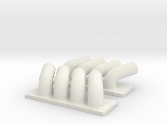 Drag Headers 3d printed