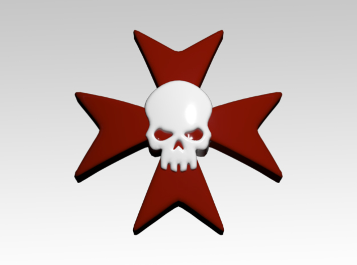 Skull & Cross 3 Shoulder Icons x50 3d printed Product is sold unpainted.