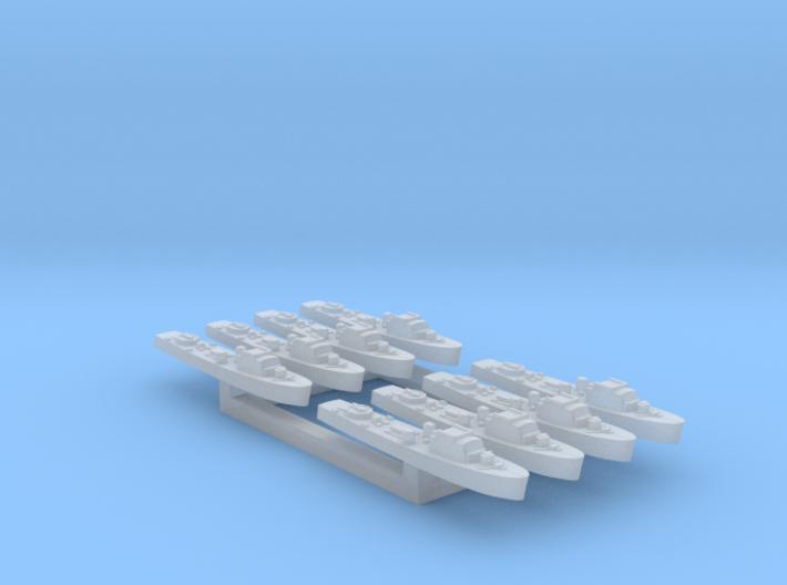8pk Fairmile C motor gun boat FUD 1:2400 3d printed