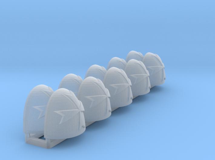 Coras ptrn Shoulder Pads: Black Teutons 3d printed