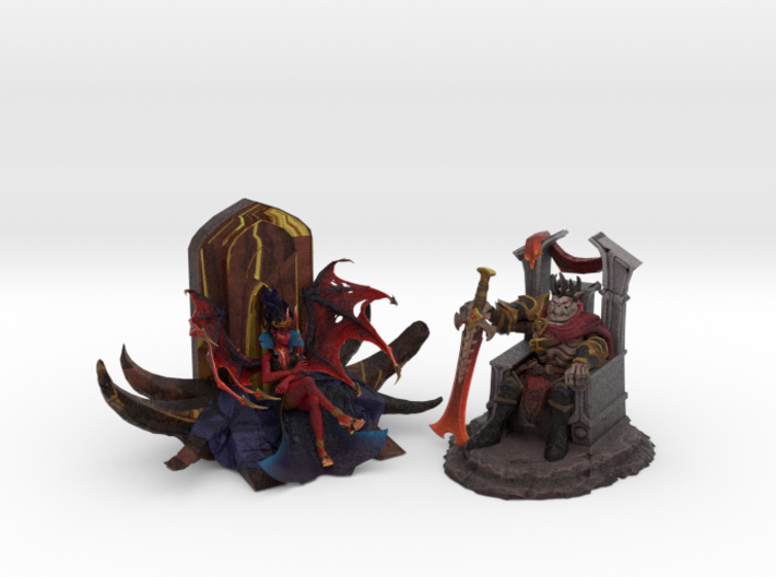 Skeleton King and Queen of Pain (Throne Edition) 3d printed