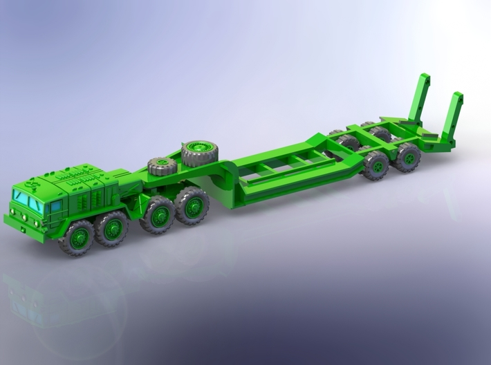MAZ 537G early w. CHmZAP 5247 Trailer 1/220 3d printed