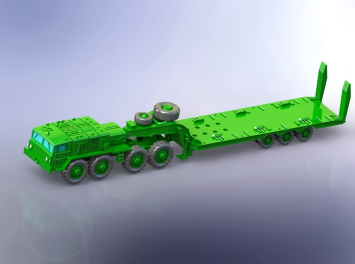 MAZ 537G late w. CHmZAP 9990 Trailer 1/160 3d printed