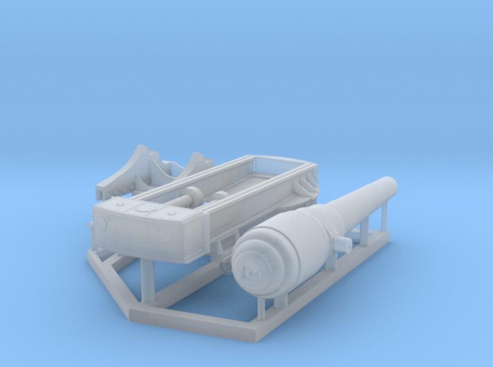 Armstrong 100-Ton Gun, 1/192 scale 3d printed