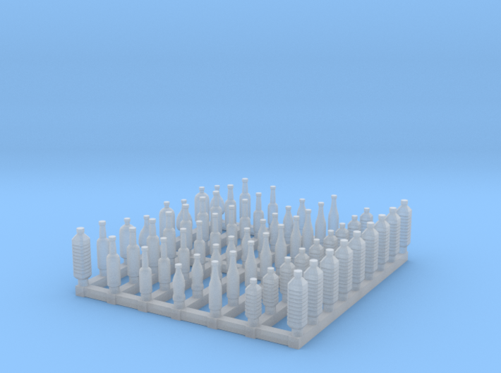 Bottles 1/56 scale 3d printed