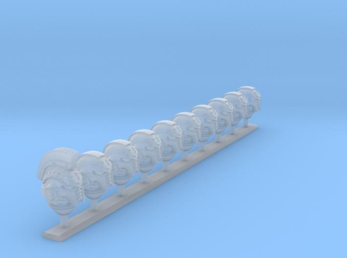 10x- Ultra Legion - G:10 Prime Helms : Squad2 3d printed
