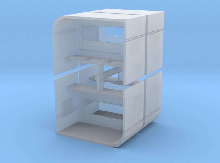 Modern Bus Shelter (x4) 1/220 3d printed