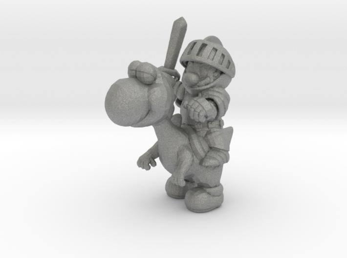 Mario Knight Mounted miniature fantasy games rpg 3d printed