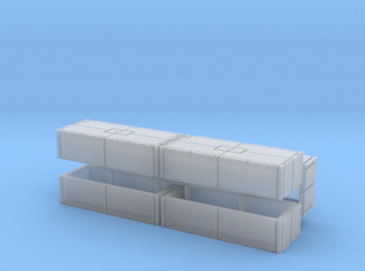 Mexeflote additional pontons 1/220 3d printed