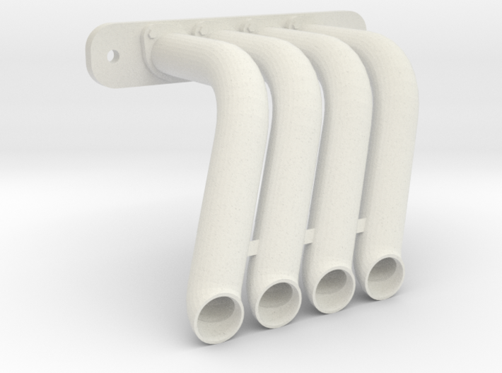 Axial SMT-10 Exhaust Header DP-00 (Right) 3d printed