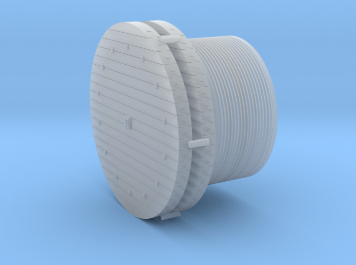 Large Wire Rope Reels 1-87 HO Scale 3d printed
