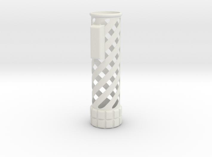 Slide-on Shroud 1 ,The spiral 3d printed