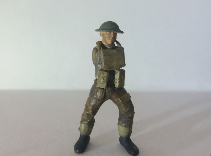 28mm heroic scale British squad (without arms) 3d printed An example miniature made using pieces from this set