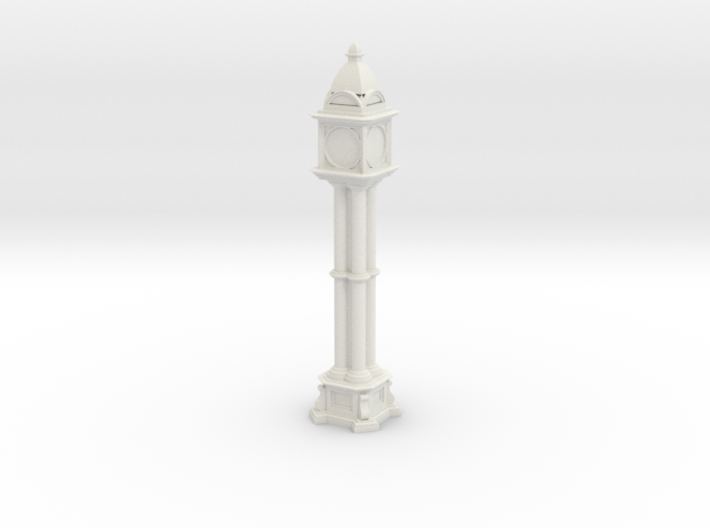 Victorian cast iron clock tower 3d printed