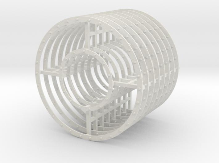 Steamboat Rings 3d printed