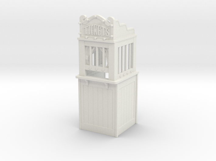 Carnival Ticket Booth 01. 1:35 Scale 3d printed