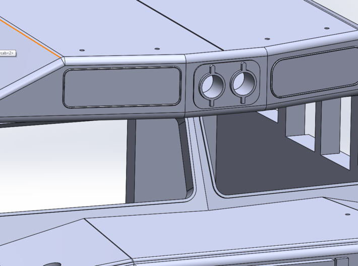 Crescent Cab - Athearn Genesis Conversion 3d printed Brow Numberboard and headlight detail