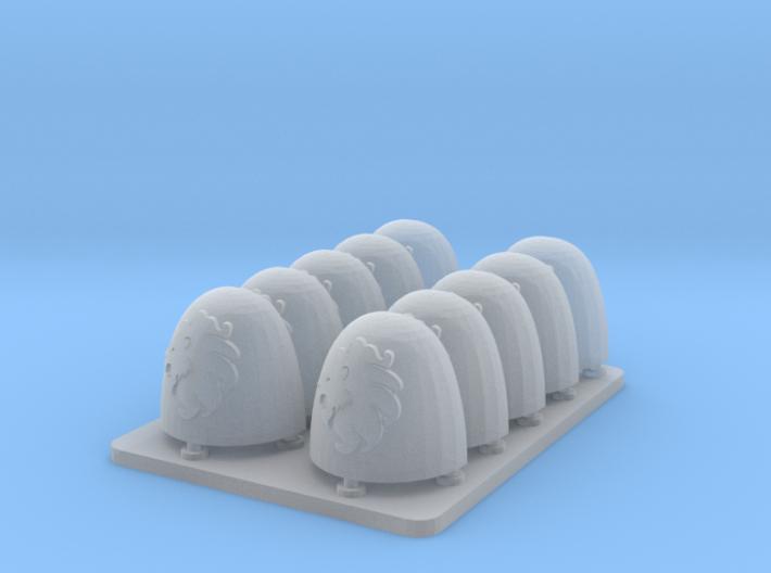 Celestial Lions v6 Smooth Shoulderpads 3d printed