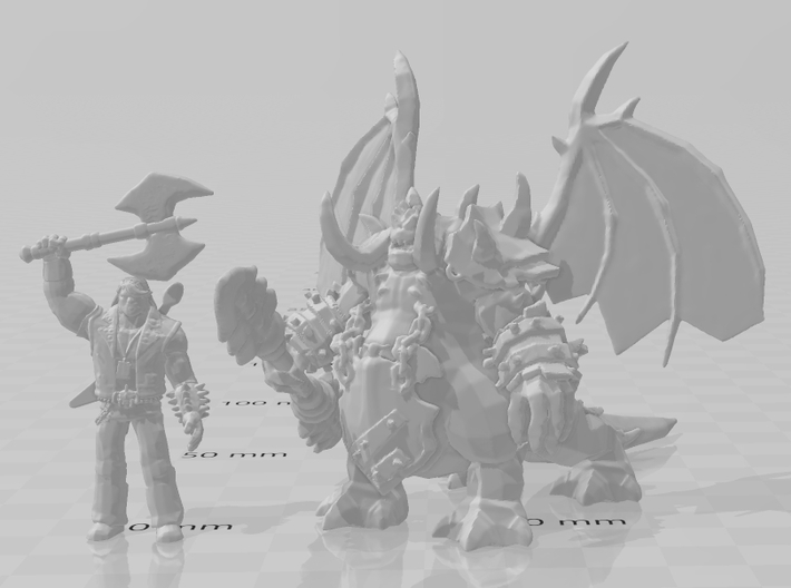 Mannoroth Pit Lord miniature fantasy games DnD rpg 3d printed